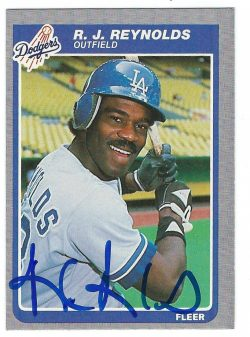 Autographed 1985 Fleer Cards