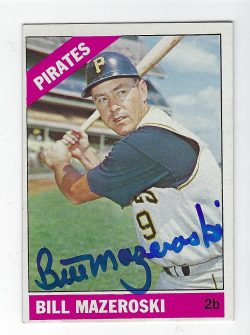 Autographed Baseball Cards - Hall of Famers