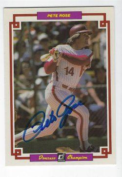 Autographed Baseball 1984 Donruss Champions