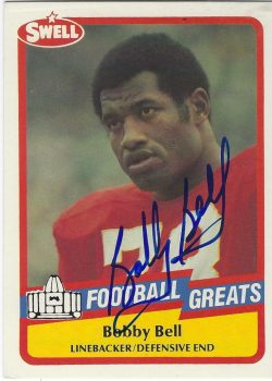 Autographed 1989 Swell Hall of Fame FB Cards