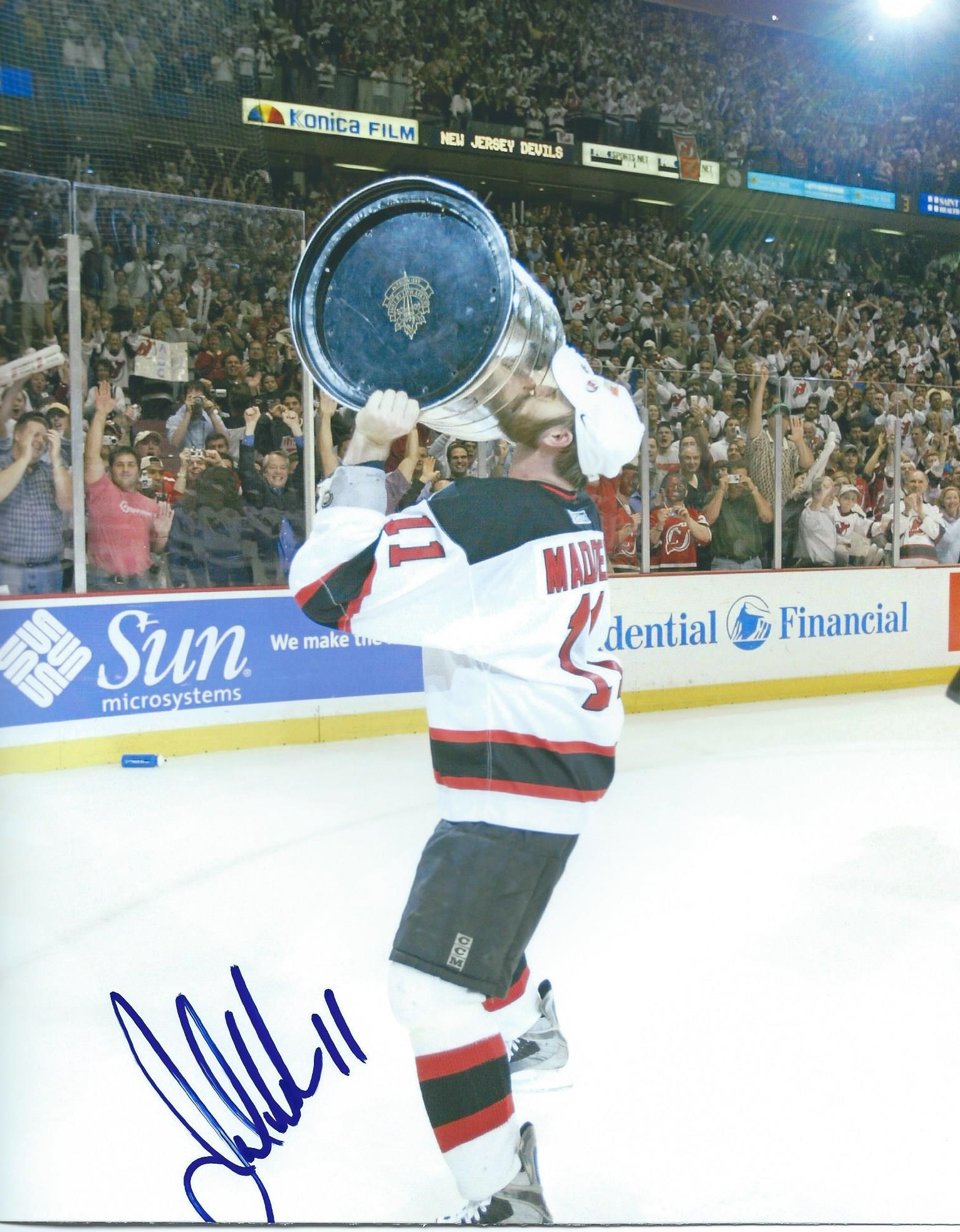 best service 9fd47 a1cfd Autographed John Madden 8X10 New Jersey Devils Photo