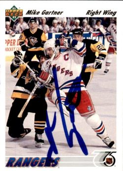 Autographed 1991-92 Upper Deck Hockey Cards
